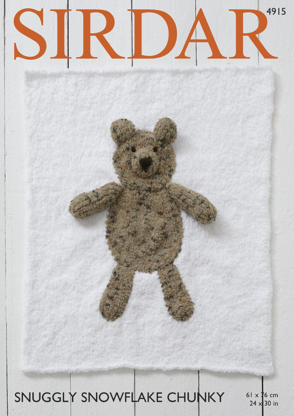 Sirdar 4915 Knitting Pattern Bear and Cat Blankets in Snuggly ...